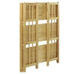 Yu Shan Folding Bookcase Casual Home Shelving Unit 3 Shelf Folding Stackable