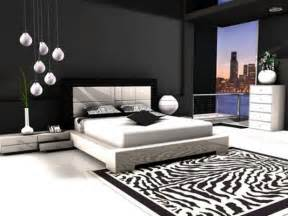 contemporary black and white bedroom design sleek and