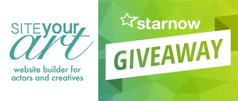 Website Giveaway - starnow giveaway ultimate website package starnow