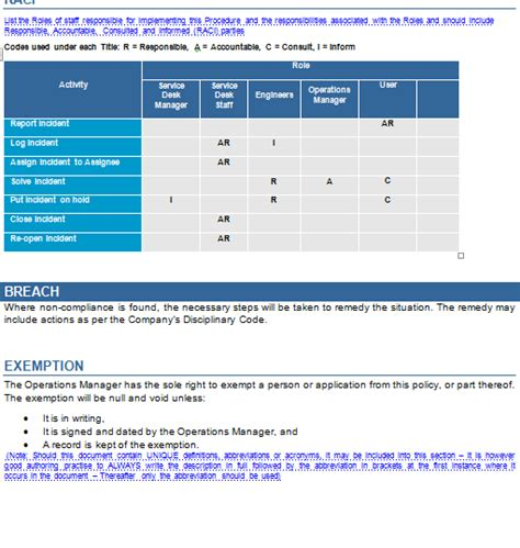 itil incident management policy template itil v3 incident management toolkit