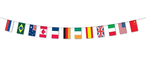 flags of the world garland multi nations flag fabric bunting 5m international flags