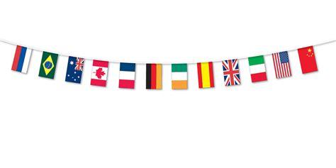 intern europe multi nations flag fabric bunting 5m international flags