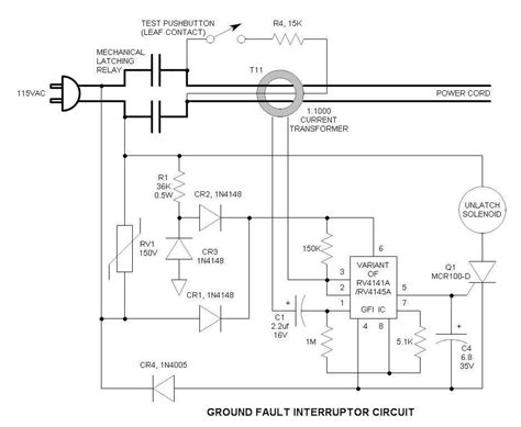 ground fault circuit interrupter wiring diagram ground fault indicator wiring diagram wiring diagram with description