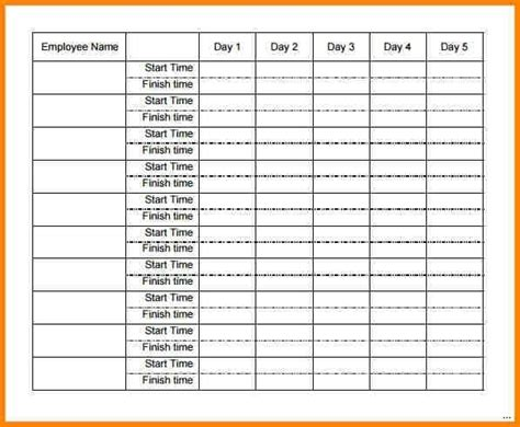 multi template weekly timesheet template for employees