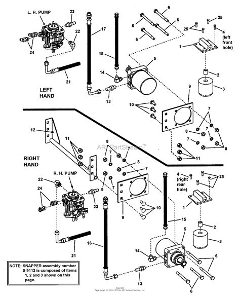 snapper pro  nzmkwv hp kawasaki   mower deck series  parts diagram