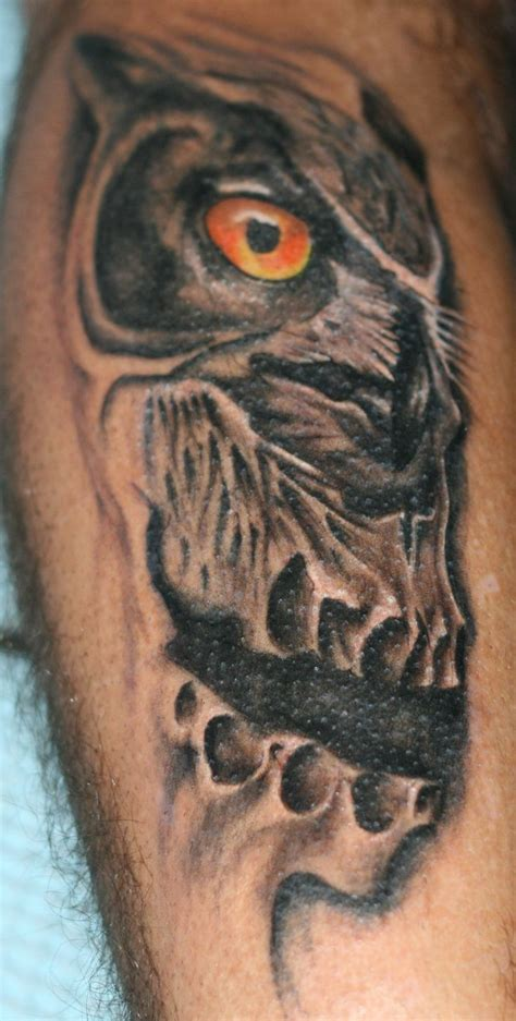 skull owl tattoo 25 best ideas about owl skull tattoos on