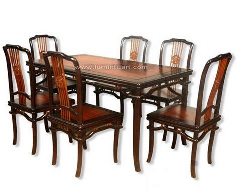 Meja Makan Taici Kursi 4 jual meja kursi makan hongkong kayu sono jati ukiran