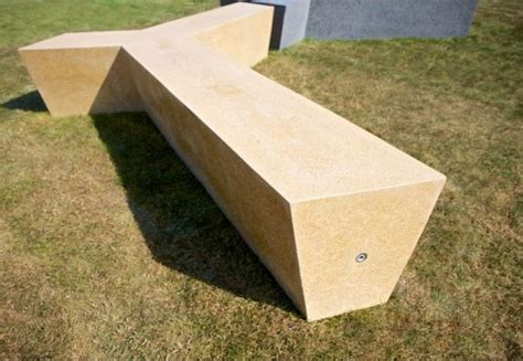 polished concrete bench polished concrete bench trio modern line