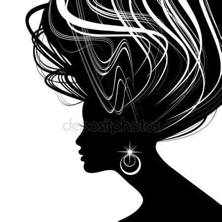 Hairstyle Tools Designs For Silhouette by Hair Style Stock Vectors Royalty Free Hair Style