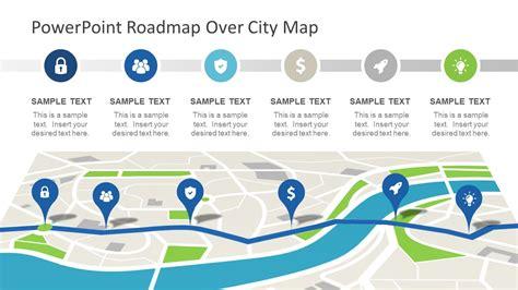Roadmap City Map Powerpoint Theme Slidemodel Microsoft Powerpoint Templates Roadmap