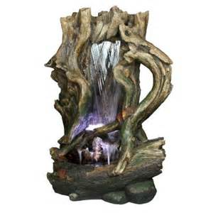 yosemite home decor tree stump waterfall fountain cw97031