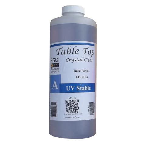 clear resin table top table top epoxy clear uv stable resin quart