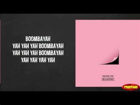 blackpink boombayah lyrics blackpink boombayah lyrics easy lyrics youtube