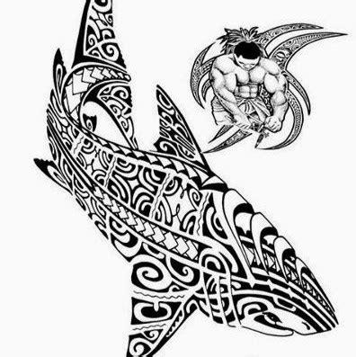 motif requin pour dessin modele tatouage polynesien maori