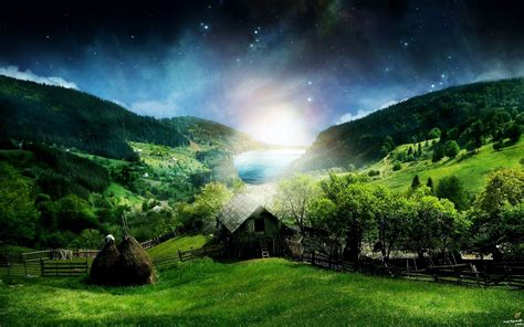 Simple Most Beautiful Scenery Wallpaper On Home Garden