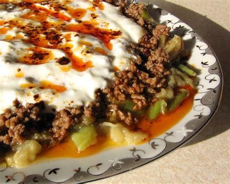 ottoman food recipes recipes alinazik turkish egg plant meat dish