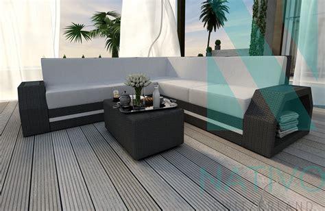 divani in rattan divano per il giardino clermont corner nativo mobili in rattan