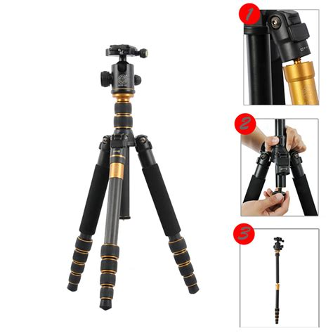 Monopod For Dslr q 666c portable carbon fiber tripod monopod kit for dslr travel ebay