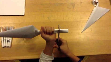 Origami Kunai Knife - how to make a paper kunai doovi
