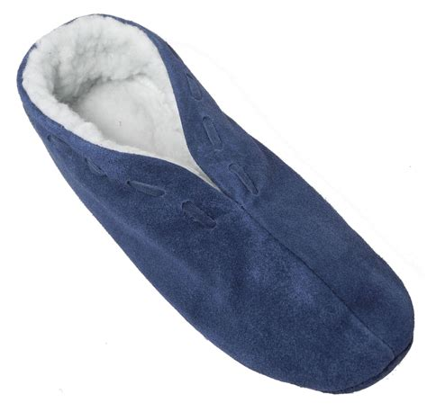 sheepskin lined slippers mens real suede leather faux sheepskin lined shoes