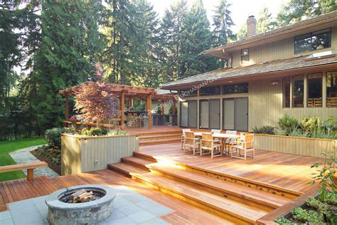 backyard ranch a 1700 square foot 2 level deck outdoor kitchen and