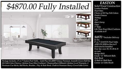 Easton Foosball Table Diamondback Billiards Pool Table Packages