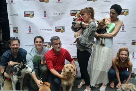 groundhog day homeless actor photo event bernadette peters at broadway barks 2017