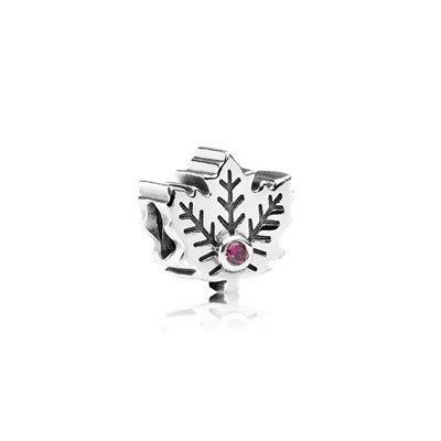 maple leaf synthetic ruby 791215sru charms pandora