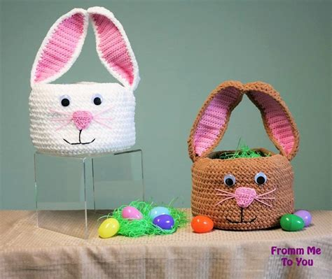 easter pattern crochet easter basket free patterns