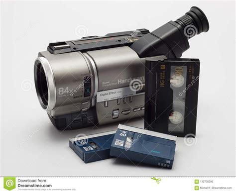 cassette videocamera for vhs cassettes stock image image of