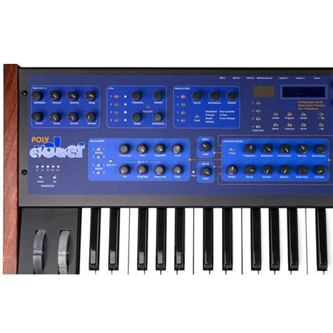 Keyboard Synthesizer disc dave smith instruments poly evolver keyboard synthesizer at gear4music