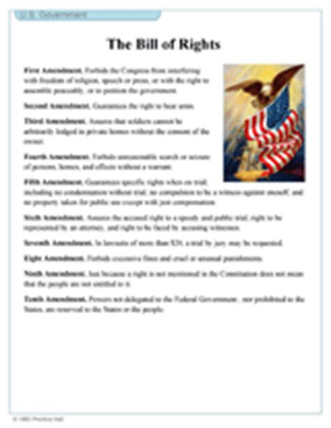 printable version bill of rights 7th grade social studies worksheets constitution the