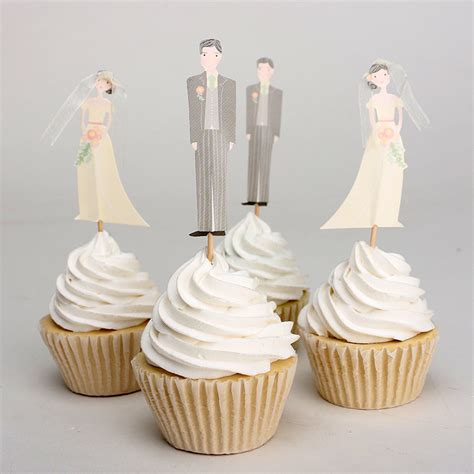 Wedding Cake Accessories by 24pcs Groom Cupcake Topper Birthday Supplies