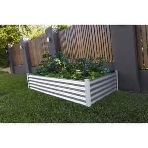 Bunnings Planter Boxes by The Organic Garden Co 200 X 100 X 41cm Zinc Raised Garden Bed