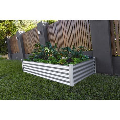 Wooden Planter Boxes Bunnings by The Organic Garden Co 200 X 100 X 41cm Zinc Raised Garden Bed