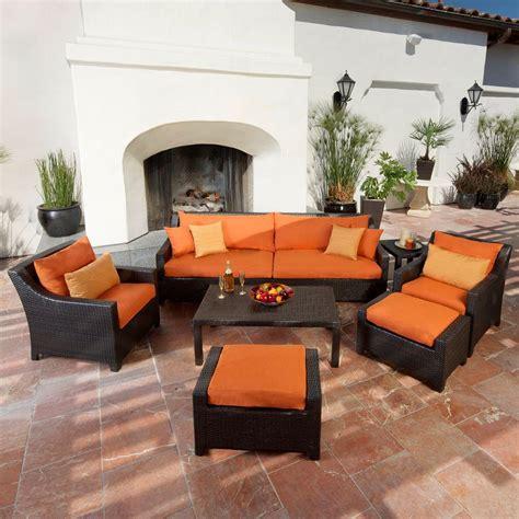 deco patio rst brands deco 8 patio seating set with tikka