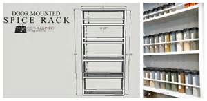 diy door mounted spice rack 100 things 2 do