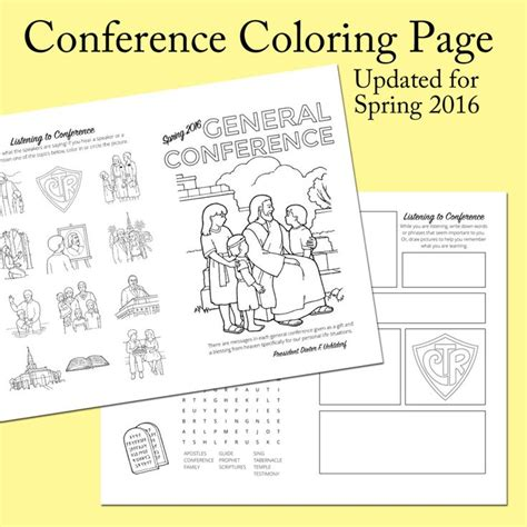 conference coloring pages lds 1194 best images about church on pinterest book of