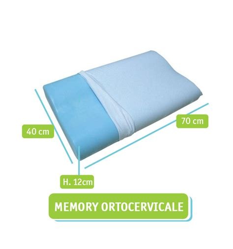 cuscini in memory cuscino per la cervicale in memory foam e polar gel