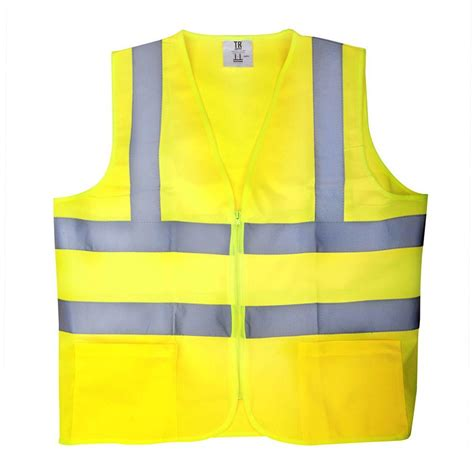 safety vest tr industrial medium yellow high visibility reflective class 2 safety vest tr88000