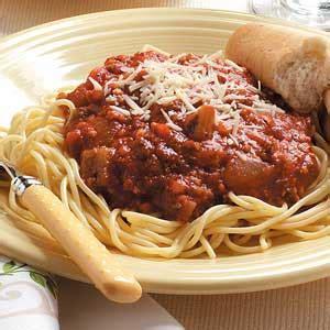 Handmade Spaghetti - spaghetti sauce recipe taste of home