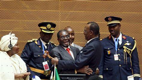 union africaine si鑒e sommet de l ua passage de relais entre robert mugabe et