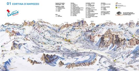 Ski map of Cortina d'Ampezzo   Dolomiti Superski