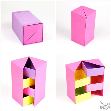 origami tool box origami secret stepper box tutorial paper kawaii