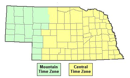 us time zone map by county current time in nebraska