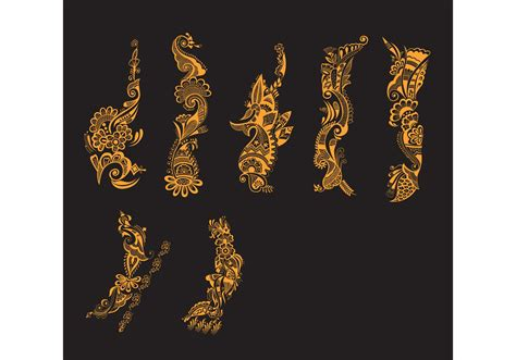 henna tattoo vector henna free vector stock graphics