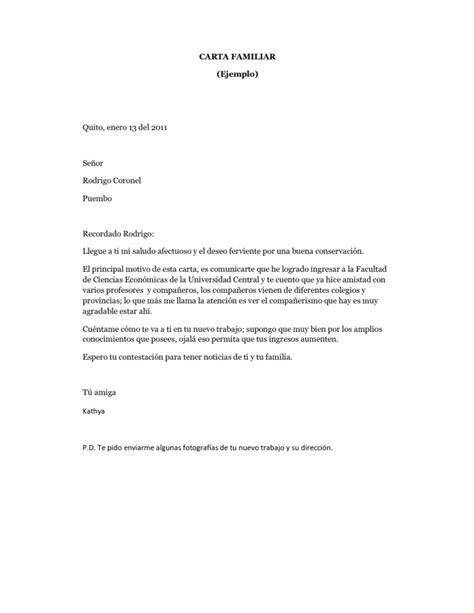 Carta De Trabajo Familiar by Carta Familiar Ejemplo
