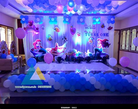 mermaid themed birthday decoration  celebration