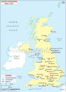 map of the united kingdom with major cities britain cities cultura inglesa city