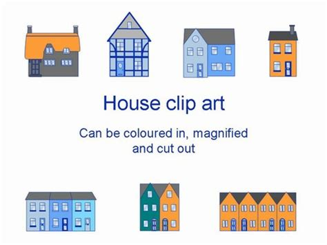 house powerpoint template houses template